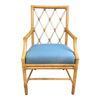 Modern McGuire of San Francisco Orlando Diaz-Azcuy Trellis Arm Rattan Chair For Sale