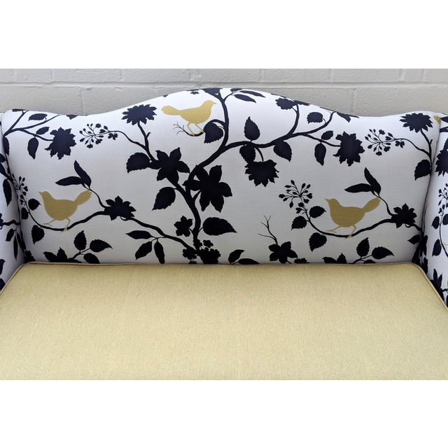 Black Antique Queen Anne Sofa With Ball and Claw Feet - Restored For Sale - Image 8 of 11