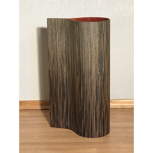 Vintage Cased Wooden Standing Floor Vase.