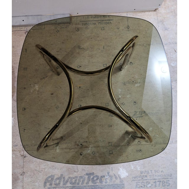 1980s 1980s Hollywood Regency Brass Coffee Table For Sale - Image 5 of 6