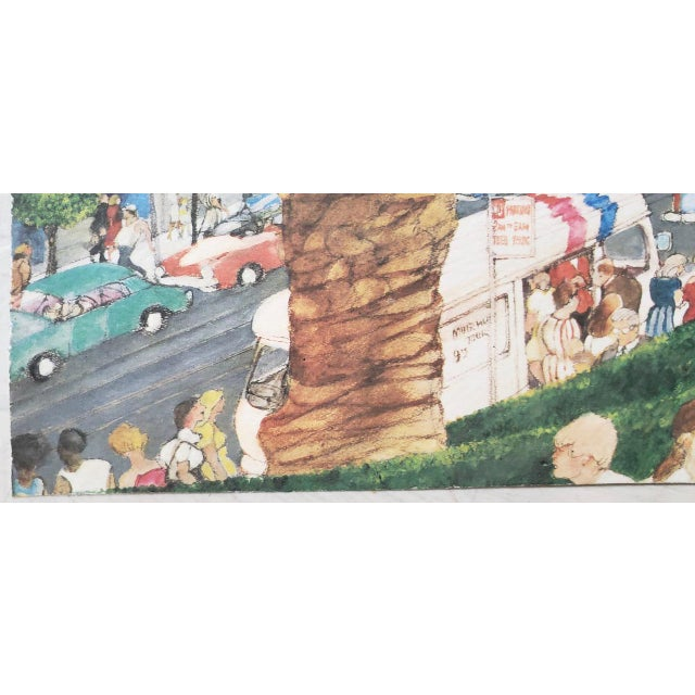 "Franklin McMahon ""Powell Street, San Francisco"" Original Watercolor C.1981 For Sale In San Francisco - Image 6 of 10"