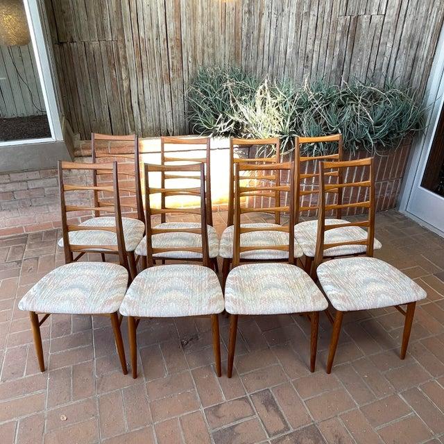 Danish Modern Koefoeds Hornslet Teak Ladder-Back Dining Chairs - Set of 8 For Sale - Image 12 of 13