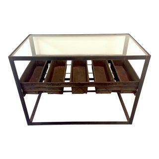 Military Bread Tray Side Table