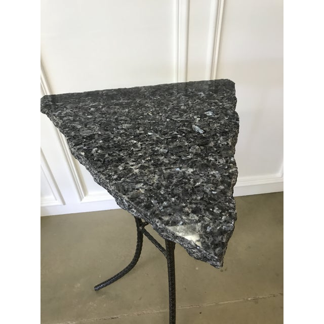 Unique Custom Granite Accent Table - Image 3 of 4