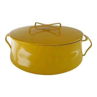 Extra Large Dansk Yellow Kobenstyle Casserole For Sale