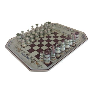 French Faience Chess Set
