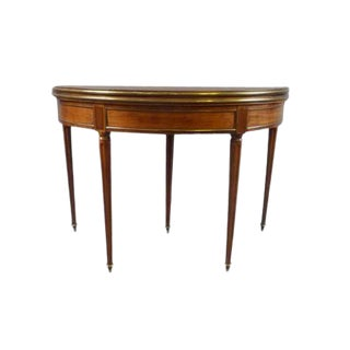 18th Century Louis XVI Mahogany Demi-Lune Table For Sale