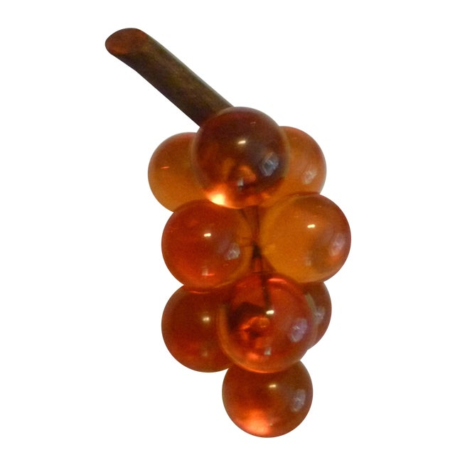 Vintage Deep Color Lucite & Driftwood Grapes - Image 1 of 8