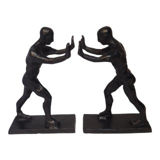 Working Man Bookends - a Pair