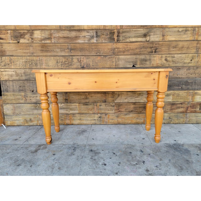 1980s Rustic Console Table with Drawers For Sale In Los Angeles - Image 6 of 13