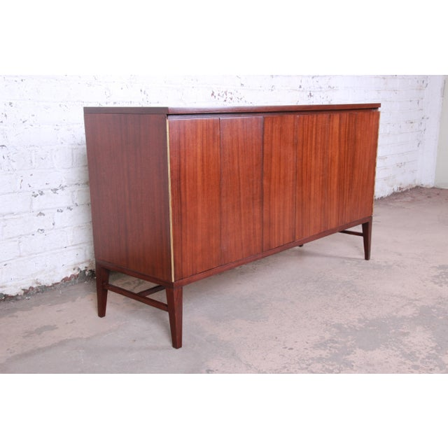 Calvin Furniture Paul McCobb for Calvin Irwin Collection Mahogany Sideboard Credenza, Newly Restored For Sale - Image 4 of 13