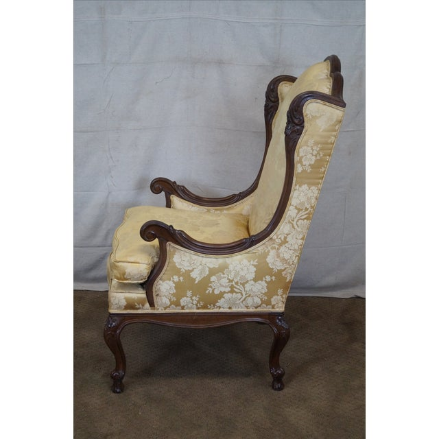 Louis XV Carved Walnut Wing Chair - Image 3 of 10