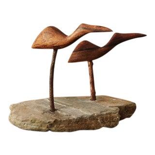 1970s Mid-Century Modern Teak Birds For Sale
