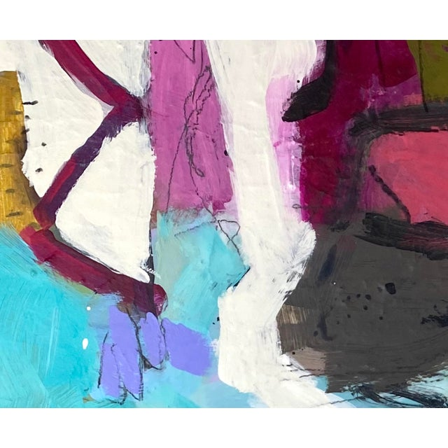 """Abstract Mixed Media Painting by Gina Cochran """"In Her Wake"""" Original Art For Sale - Image 3 of 5"""