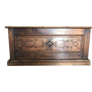 20th Century Spanish Carved Oak Chest For Sale