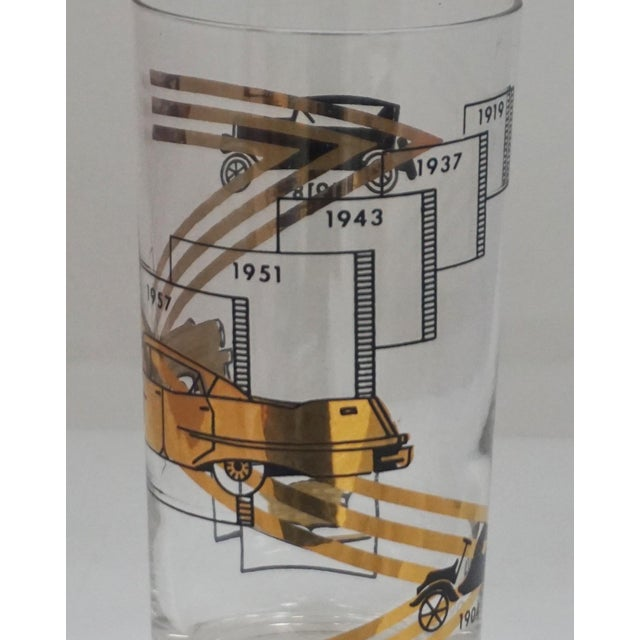 1960s Cadillac Cocktail Glasses For Sale - Image 5 of 7