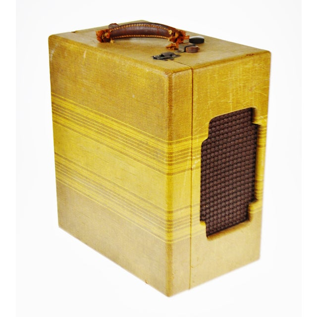 Yellow Vintage Andrea Gram 78 RPM Record Player For Sale - Image 8 of 9