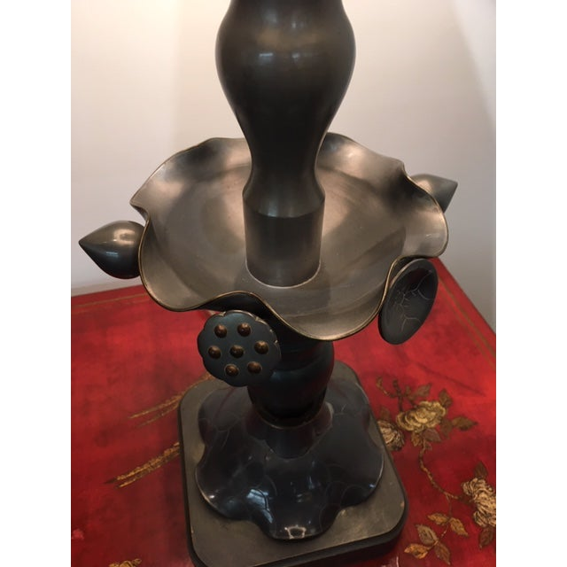 Vintage Marlboro Lighting Co Metal Pewter Table Lamps - A Pair For Sale In New York - Image 6 of 9