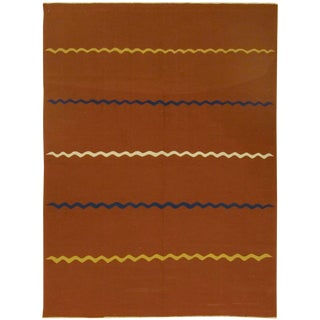 Turkish Vintage Handwoven Kilim - 5′7″ × 7′9″ For Sale