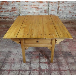 19th Century French Farmhouse Pine Drop Leaf Dining Table Preview