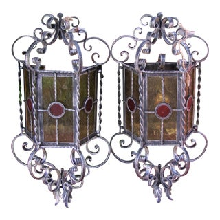 Vintage Arts & Crafts Wall Sconces - a Pair For Sale
