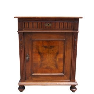 19th Century Georgian Style Burled Walnut Entryway Console Table For Sale