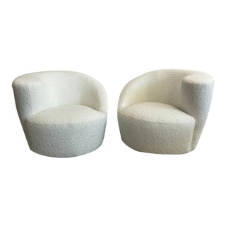 1940s Vladimir Kagan Nautilus Lounge Swivel Chairs - a Pair For Sale