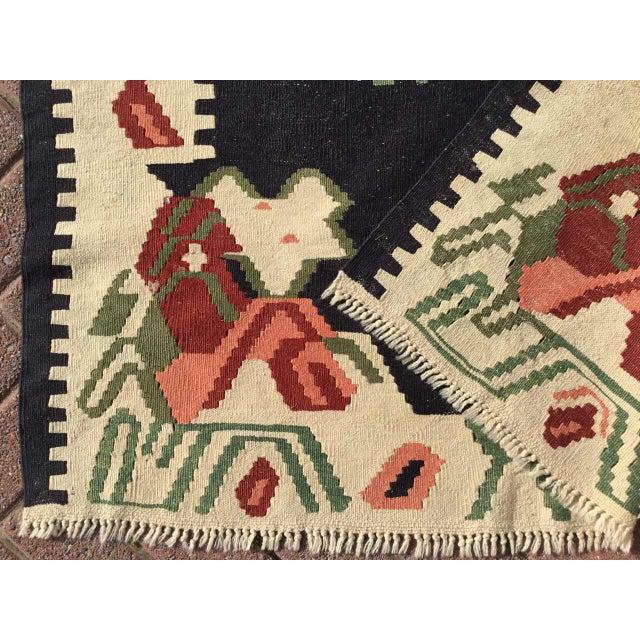 """Textile Vintage Turkish Kilim Rug - 3'6"""" X 5'8"""" For Sale - Image 7 of 8"""