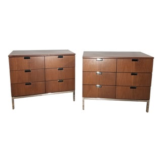 Mid-Century Modern Teak 6 Drawer Credenza- Sold as a Pair For Sale
