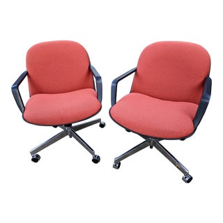 1970s Vintage Hon Executive Swivel Chairs- A Pair For Sale