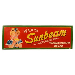 Vintage Sunbeam Bread Sign For Sale