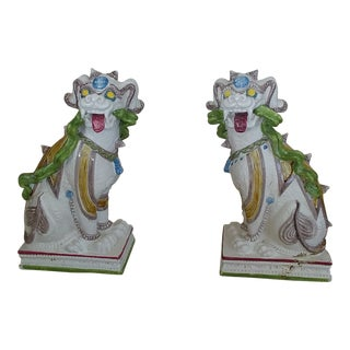 Antique Traditional Chinese Dragon Statues - a Pair For Sale