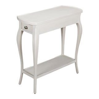 Old World Side Table, Working White Fnsh For Sale