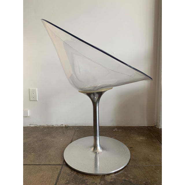 Transparent Modern - Lucite/Chrome Swivel Chair by Philippe Starck - Pair For Sale - Image 8 of 8