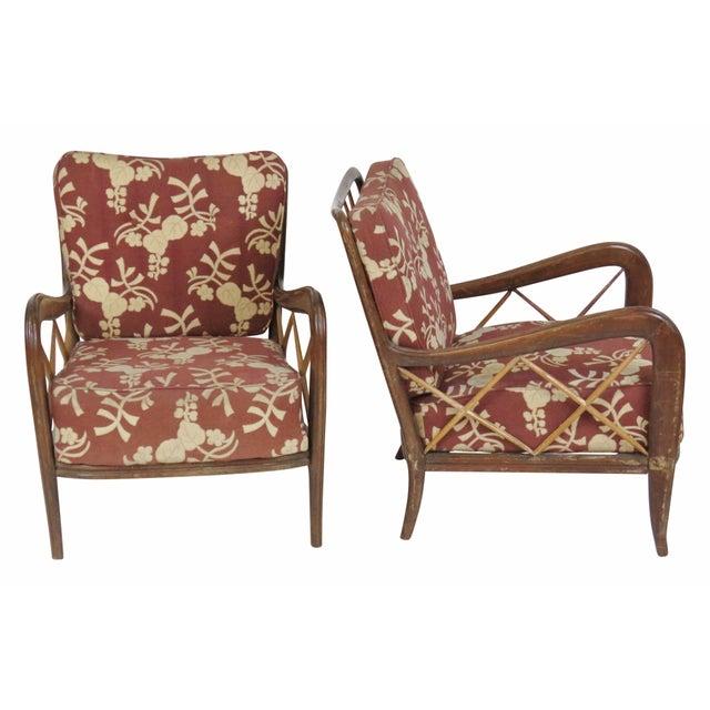 Paolo Buffa Style Modern Lounge Chairs - Pair - Image 1 of 4