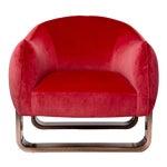 Marie Burgos Design Red Milo Armchair