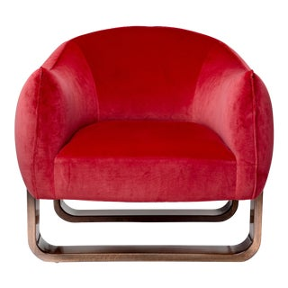 Marie Burgos Design Red Milo Armchair For Sale