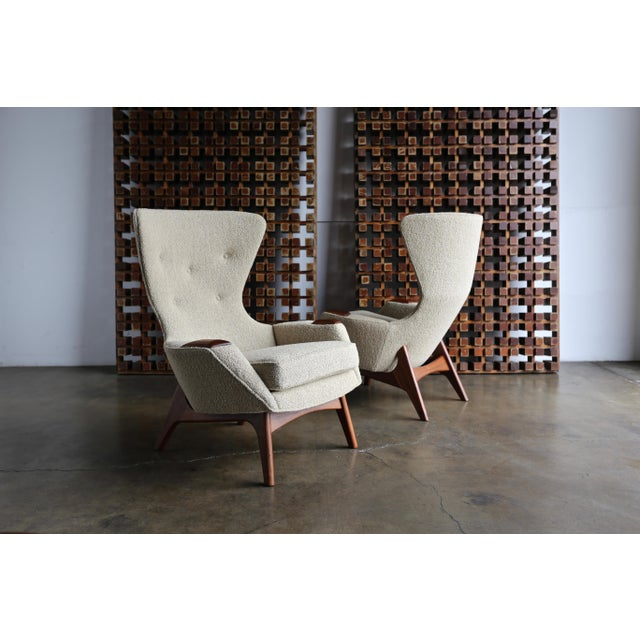 Adrian Pearsall for Craft Associates Wing High Back Chairs - a Pair For Sale In Los Angeles - Image 6 of 13