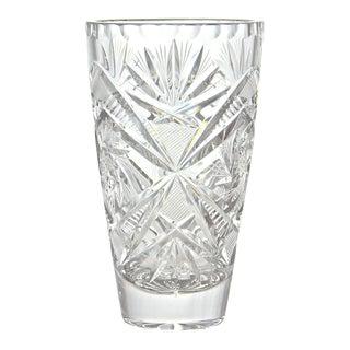 Cut-Crystal Vase For Sale