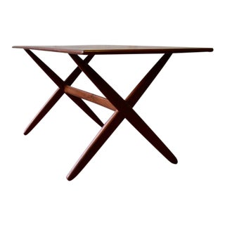 Sleek Mid Century Modern Teak Coffee Table For Sale