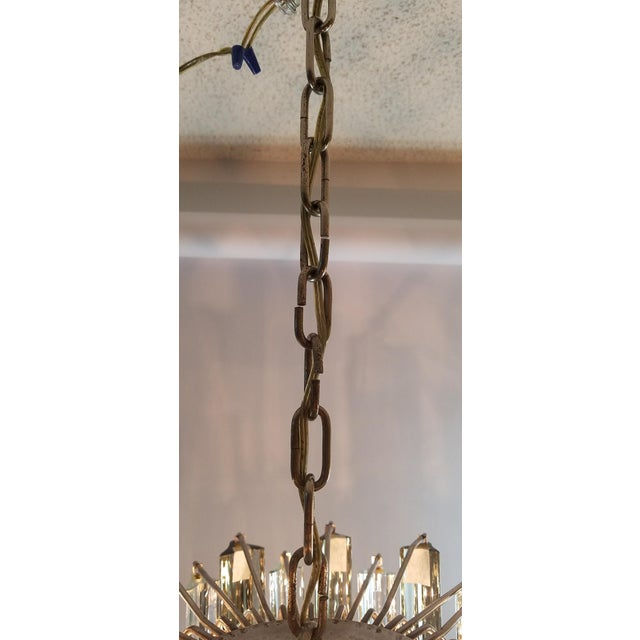 Mid-Century Modern Venini Clear & Dark Glass Chandelier For Sale - Image 9 of 11