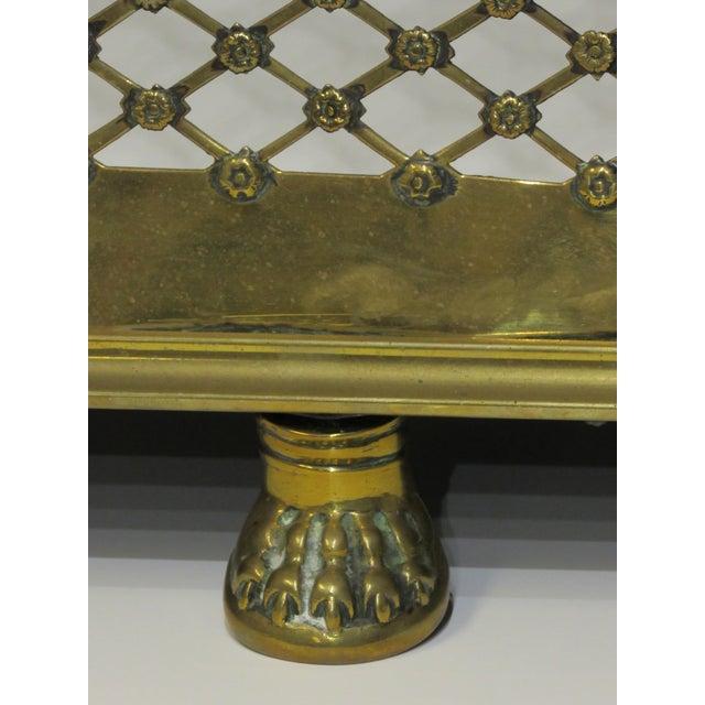 Metal Brass Lattice Fireplace Set For Sale - Image 7 of 11