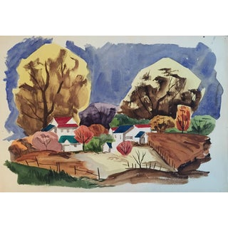 Mid Century California Landscape Painting For Sale