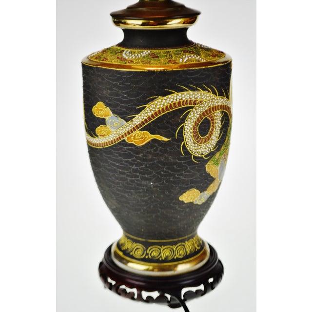 Vintage Japanese Satsuma Style Moriage Vase Lamp Chairish