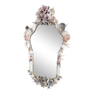 Rustica Shell-Encrusted Wall Mirror For Sale