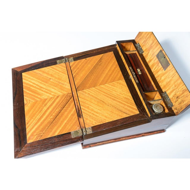 Mid 19th Century Vintage Rosewood & Mother Pearl Writing Slope Box For Sale In West Palm - Image 6 of 10