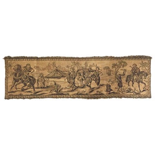 Orientalist Tapestry With 19th Century Scene Depicting Arabs Hunters For Sale