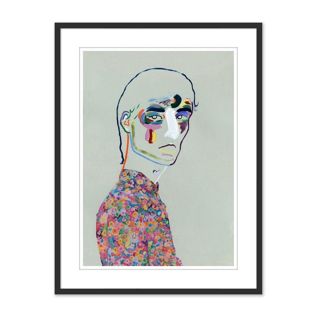 Set of 6 Portraits by Robson Stannard in Black Frame, XS Art Prints For Sale In Austin - Image 6 of 11
