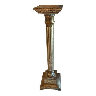 Mid Century Italian Florentine Gilded Wood Pedestal For Sale