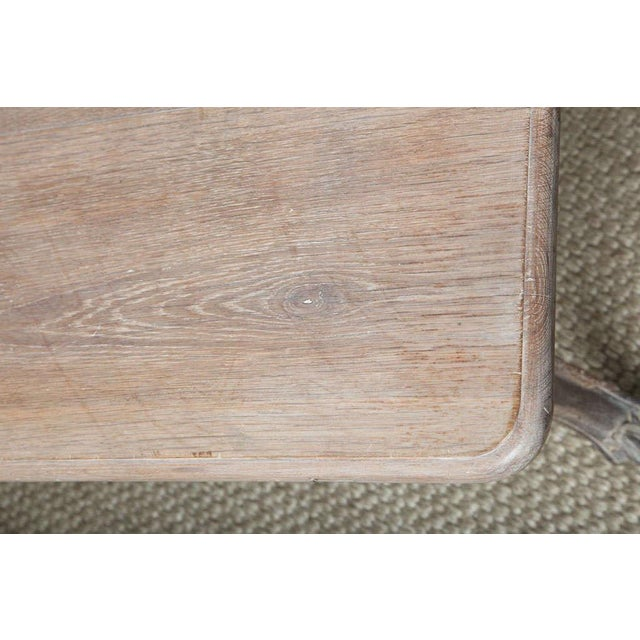 Off-white French Cerused Oak Writing Table For Sale - Image 8 of 11